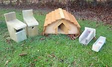HEDGEHOG House, Robin & base Uccello nidificazione caselle più una mangiatoia