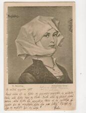 R Beyschlag Altdeutscher Gruss 1900 U/B Postcard Germany 182b