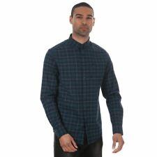 Men's Farah Mackay Button Down Collar Long Sleeve Shirt in Blue