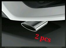 2 pcs Genuine 2016 17 Civic X EXHAUST Tip FINISHER Pipe 1.5 L Turbo Sedan Coupe