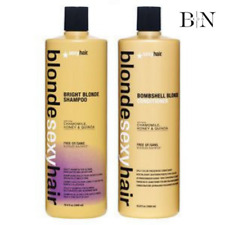 SEXY HAIR BLONDE BRIGHT VIOLET TONING SHAMPOO &CONDITIONER 1000ML + FREE PUMPS