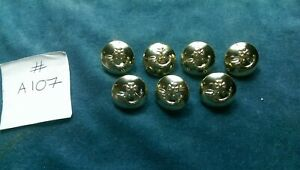 7 x British Army BRITISH LIGHT INFANTRY staybright buttons  #A107