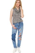 Jeans da donna blu medio invecchiato