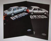 Auto Prospekt Katalog Ford Orion + Technik, Maße und Gewichte