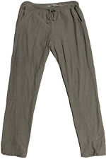GROCERIES APPAREL~ GRAY  STRIPED LOUNGE PANTS~ ORGANIC COTTON~ LARGE  NEW USA
