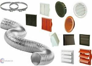 """Cooker Hood Duct Cowl Gravity Fixed Vent Kit Fan Extractor Tumble 4"""" 5"""" 6"""""""