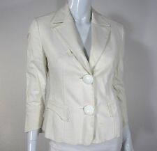 GIANNI VERSACE 3/4 SLEEVE FRONT POCKET MADE ITALY BUTTONS BLAZER SIZE 42 WHITE