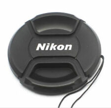 55mm Size Snap-on Central Pinch Front Lens Cap Cover For Nikon Lens with String