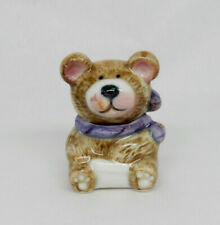 Vintage Ceramic Teddy Bear Cookie Jar Dollhouse Miniature 1:12