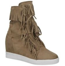 Femme Casual frange Bottines camel UK 6 EU 39 LN03 15