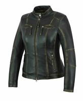 Ladies Womens Motorcycle Motorbike Racing Leather Jacket CE Armoured