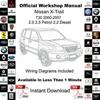 Nissan X-Trail T30 2000-2007 Factory Service Workshop Repair Manual