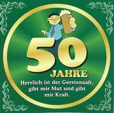 Aufkleber Flaschenetikett 50 Jahre mit witzigen Spruch Geburtstag Bierflasche