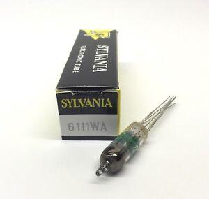 6111  JAN 6111WA  NOS  Sylvania Green Print USA  Valve Tubes