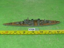 vintage wood waterline ship model unknown destroyer /battleship collectable 1328