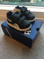 Baby Boy Navy White & Red Velcro Reebok Classic Trainers Size 1.5 EU 17 BNIB
