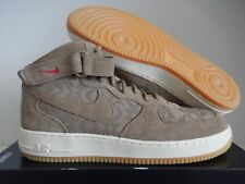 official photos 0a838 6009a NIKE AIR FORCE 1 MID 07 PREMIUM N7 CANTEEN BROWN-UNIV RED SZ 16