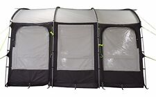 390 XL LIGHTWEIGHT CARAVAN PORCH AWNING - CHARCOAL with storage bag