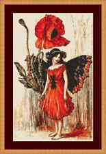 Poppy Flower Fairy Cross Stitch Kit