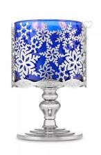 Bath & Body Works Snowflakes Pedestal 3 Wick Candle Holder New