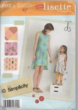 Simplicity 1892 Mother and Daughter Dress Child Cropped Pants Sz 6-24A 3-8c