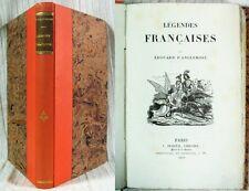 Légendes Françaises par Édouard d'Anglemont / Édition Originale Dureuil 1829