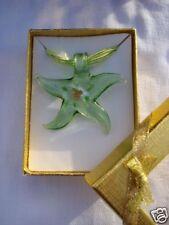 Pendentif  collier verre étoile couleur  vert