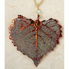 Necklace - Iridescent Cottonwood Leaf, Actual Leaf!