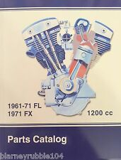 Harley FL FLH Parts Manual Catalog Book 1961-71 Nose Cone Shovelhead Panhead