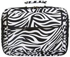 NEW! World Traveler 17-inch Zebra Print Laptop Bag - Black and White
