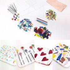 Make Two Fused Glass Coasters Kit Bullseye Coe90 Requires Glass Kiln Fusing