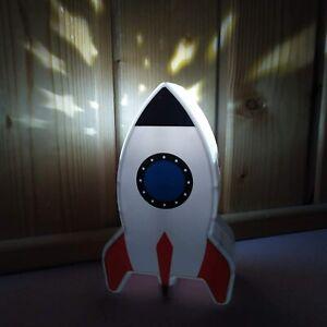 Rocket Night Light Star Projector Mood Light Kids Bedside Table Mood Lamp Gift