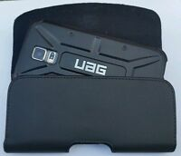 FOR-LG-X-POWER XL LEATHER  BELT CLIP HOLSTER  FITS A UAG/SPIGEN CASE ON Phone