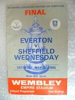 1966 FA Cup FINAL Programme EVERTON v SHEFFIELD WEDNESDAY, 14th May-Original