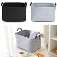 Practical Felt Storage Basket Closet Toy Hamper Laundry Bag Shelf Box Organizer