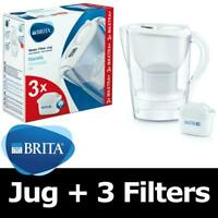 BRITA Marella Cool MAXTRA+ Plus 2.4L Water Filter Jug + 3 Month Cartridges Pack