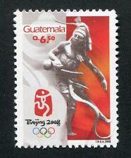 Guatemala 2008 Olimpiadi Pechino Beijing Olympics Maya 1496 post FRESCHI MNH