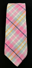 "Vtg Harvard Cooperative Skinny Cotton 3"" Narrow Striped Pink Hipster Necktie"
