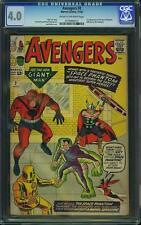 Avengers #2 CGC 4.0 1963 1st Space Phantom! Hulk! Thor! Iron Man! F7 212 cm