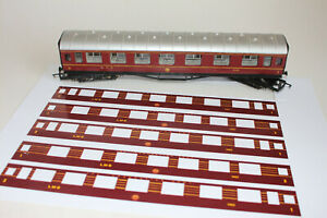 LMS Coronation Scot coach Render Kit 6 x Coaches layover for LMS Hornby coach