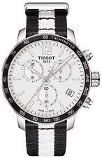 *BRAND NEW* Tissot Men's Black and white Strap Steel   Watch T095.417.17.037.11