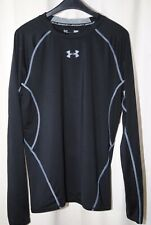 Under Armour Mens Black & Grey Long Sleeve Compression Top Size L