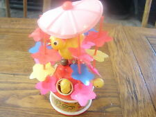 Vintage Celluloid Windup Merry Go Round Toy with Moving Chicks Japan Works