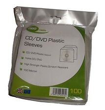 200 - Neo Media - PVC Poly Protective CD DVD Sleeve Wallets - (100 micron)