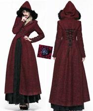 Manteau long gothique lolita victorien corset capuche fourrure hiver PunkRave