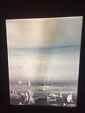 """Yves Tanguy """"Again And Always """" French Surrealism Glass 35mm Art Slide"""