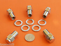CHROME MAG WHEEL NUTS Pk of 5 SUIT HOLDEN FE - EJ EH - HR to HQ WB TORANA LC UC