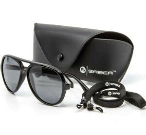 Saber Pilot Fishing Sunglasses Polarised with Carrycase Cloth and Lanyard Carp