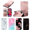 Marble Leather Wallet Card Slot Case Cover For iPhone 11 Pro XS Max XR X 8 7 6S+