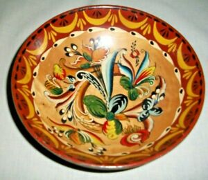 VINTAGE NORWEGIAN ROSEMALING WOOD ALE BOWL WITH SAYING NORWAY